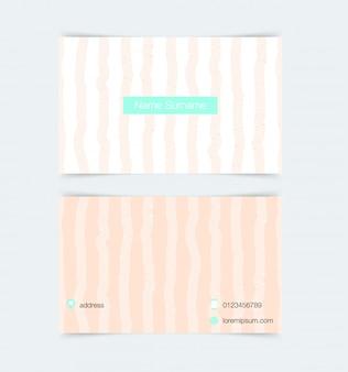 Modelo de cartão com fundo simples