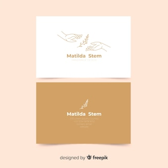 Modelo de cartão com plantas