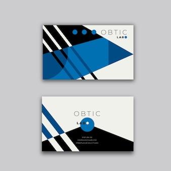 Modelo de cartão com tema azul clássico