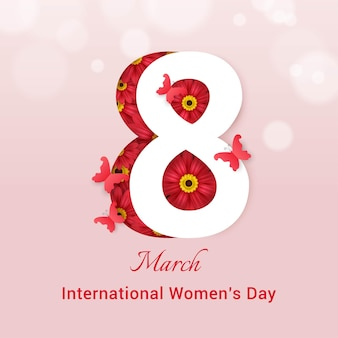 Modelo de cartão comemorativo para o dia internacional da mulher