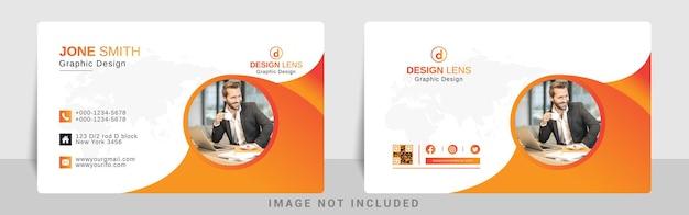 Modelo de cartão corporativo com gradiente vermelho laranja