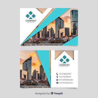 Modelo de cartão corporativo de negócios