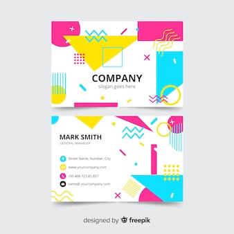 Modelo de cartão corporativo, frente e verso design