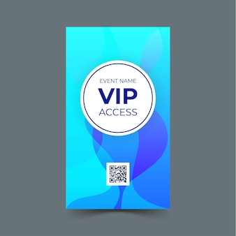 Modelo de cartão de acesso vip