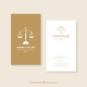 Modelo de cartão de advogado