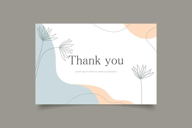 Modelo de cartão de agradecimento fundo minimalista