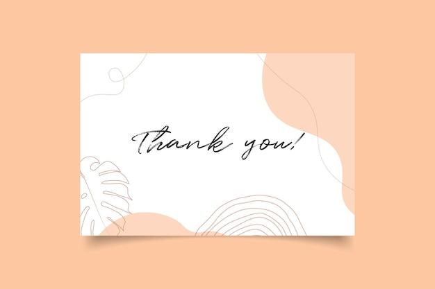 Modelo de cartão de agradecimento minimalista moderno