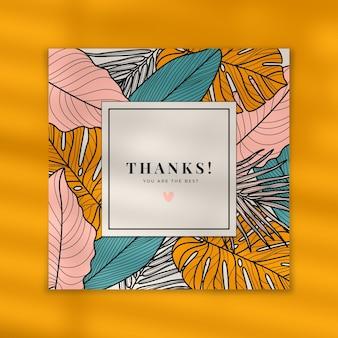 Modelo de cartão de agradecimento