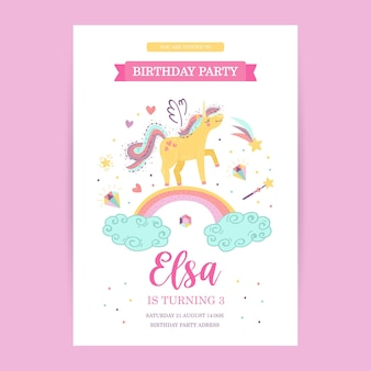 Modelo de cartão de aniversário de bebê