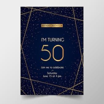 Modelo de cartão de aniversário elegante