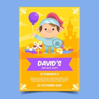 Modelo de cartão de aniversário para crianças