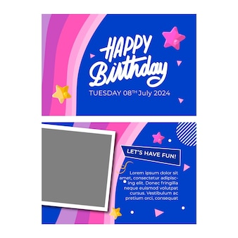 Modelo de cartão de aniversário