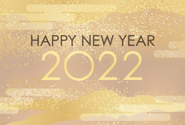 Modelo de cartão de ano novo do ano 2022 decorado com padrão vintage abstrato japonês