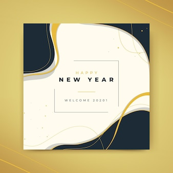 Modelo de cartão de ano novo