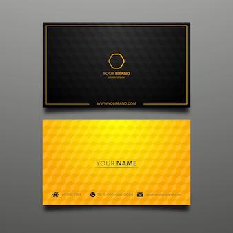 Modelo de cartão de apresentação de ouro