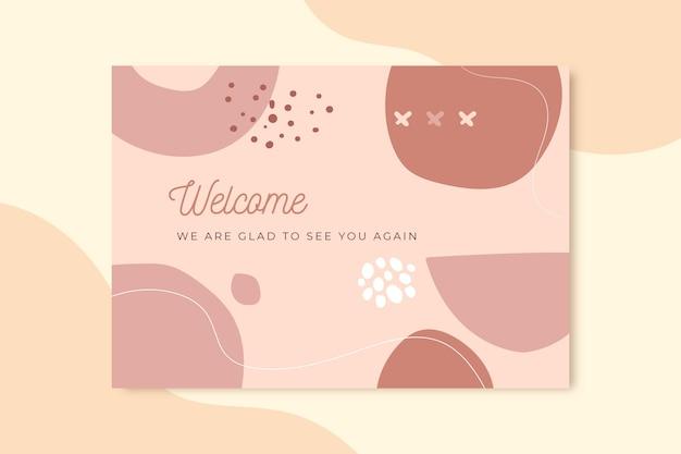 Modelo de cartão de boas-vindas Vetor grátis
