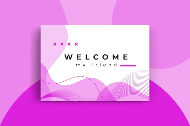 Modelo de cartão de boas-vindas