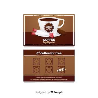 Modelo de cartão de café moderno