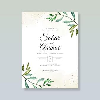 Modelo de cartão de casamento elegante