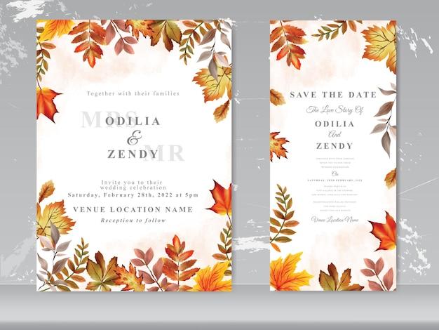 Modelo de cartão de casamento em aquarela floral