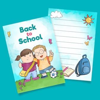 Modelo de cartão de colegas de volta à escola