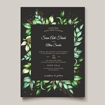 Modelo de cartão de convite de casamento elegante