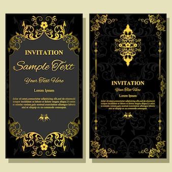 Modelo de cartão de convite de casamento.