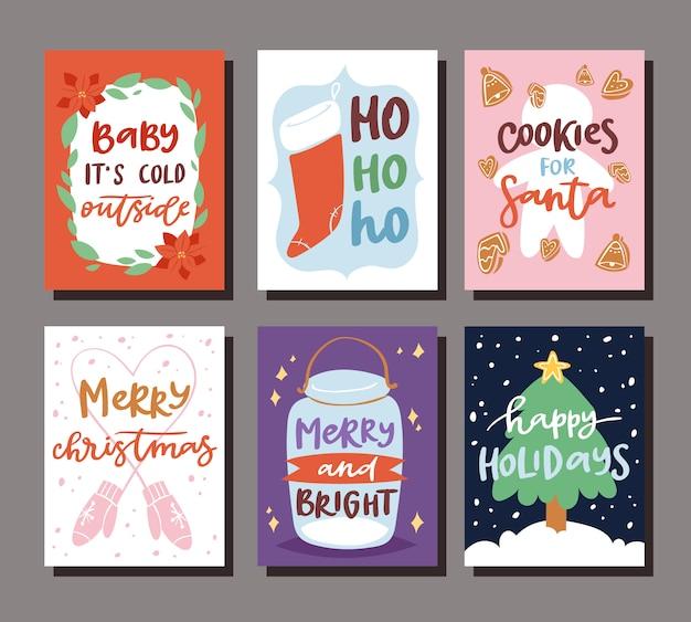 Modelo de cartão de convite de festa de natal para celebração de feriado de natal noel clipart ano novo papai noel para impressão de fundo de cartaz