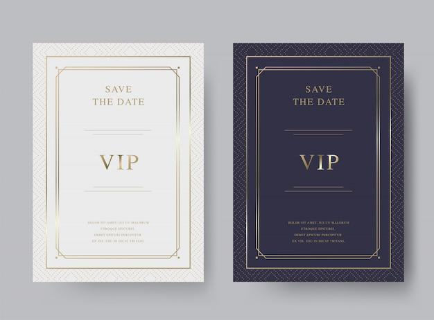 Modelo de cartão de convite de luxo vintage