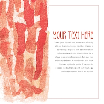 Modelo de cartão de convite pintado escova aquarela multiuso