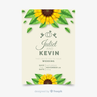 Modelo de cartão de convite weddind
