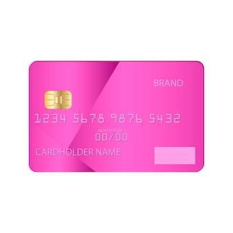 Modelo de cartão de crédito bancário modelo ilustração plana