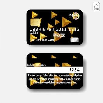 Modelo de cartão de crédito com design abstrato