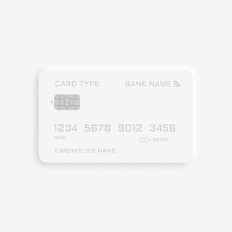 Modelo de cartão de crédito estilo neumorfismo