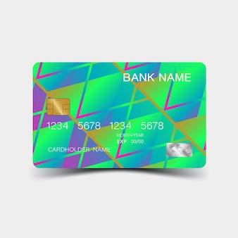 Modelo de cartão de crédito ilustração luxuosa de desenho vetorial editável eps10