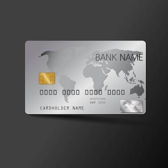Modelo de cartão de crédito moderno. com inspiração do resumo.