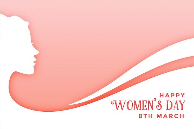 Modelo de cartão de desejos felizes do dia das mulheres felizes