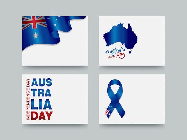 Modelo de cartão de dia da austrália