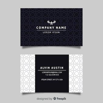 Modelo de cartão de empresa elegante