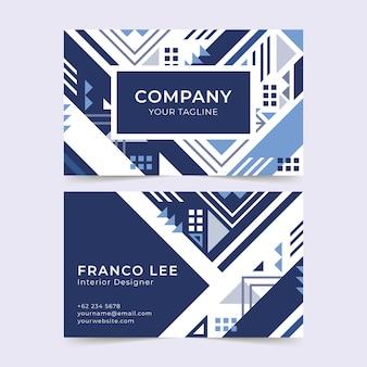 Modelo de cartão de empresa
