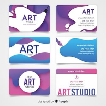 Modelo de cartão de estúdio de arte