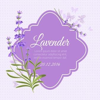 Modelo de cartão de felicitações com lavanda perfumada