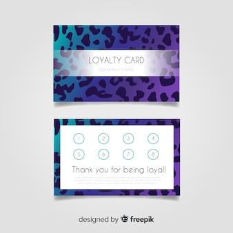 Modelo de cartão de fidelidade abstrata com estilo colorido