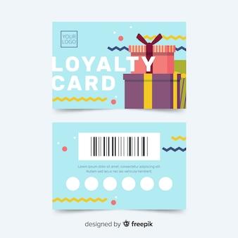 Modelo de cartão de fidelidade colorido com design abstrato