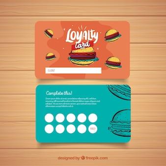 Modelo de cartão de fidelidade colorido