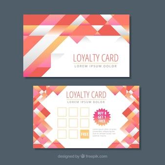 Modelo de cartão de fidelidade com design abstrato