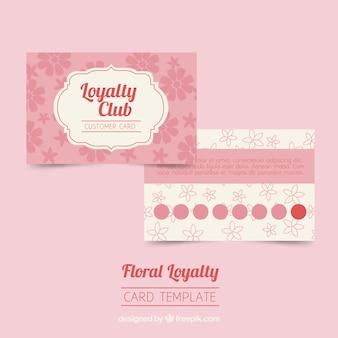 Modelo de cartão de fidelidade com flores