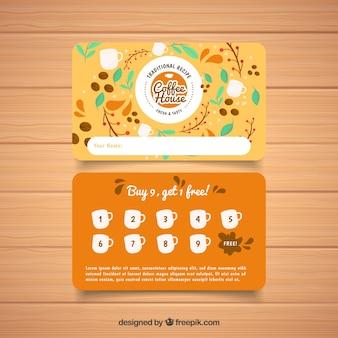 Modelo de cartão de fidelidade de café