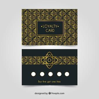 Modelo de cartão de fidelidade de luxo