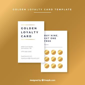 Modelo de cartão de fidelidade de ouro